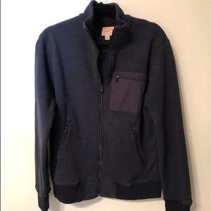 J Crew full zip fleece jacket